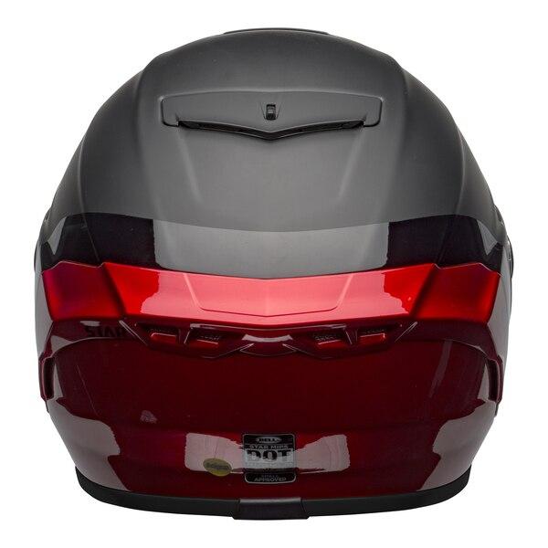 bell-star-dlx-mips-street-helmet-shockwave-matte-gloss-black-candy-red-back__58433.1601546495.jpg-Bell Street 2021 Star DLX MIPS Adult Helmet Helmet (Shockwave M/G Black/Candy Red)