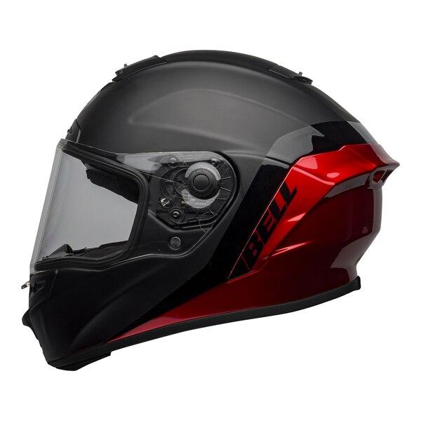 bell-star-dlx-mips-street-helmet-shockwave-matte-gloss-black-candy-red-left-clear-shield__31712.1601546494.jpg-Bell Street 2021 Star DLX MIPS Adult Helmet Helmet (Shockwave M/G Black/Candy Red)