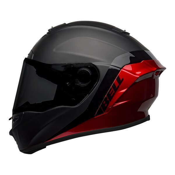 bell-star-dlx-mips-street-helmet-shockwave-matte-gloss-black-candy-red-left__19487.1601546494.jpg-Bell Street 2021 Star DLX MIPS Adult Helmet Helmet (Shockwave M/G Black/Candy Red)
