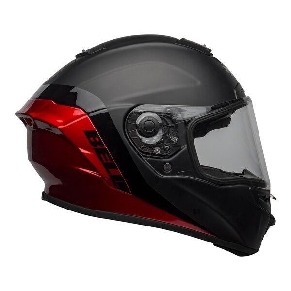 bell-star-dlx-mips-street-helmet-shockwave-matte-gloss-black-candy-red-right-clear-shield__25316.1601546494.jpg-Bell Street 2021 Star DLX MIPS Adult Helmet Helmet (Shockwave M/G Black/Candy Red)