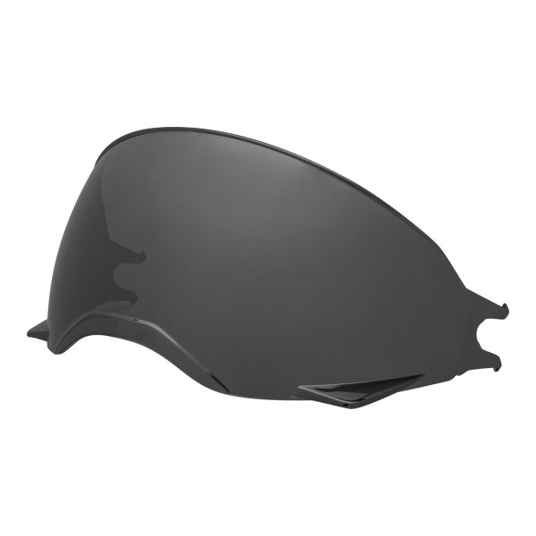 bell-broozer-inner-shield-spare-part-dark-smoke-front-left-BELL BROOZER SHIELD VISOR VARIOUS COLOURS – Dark Silver Iridium