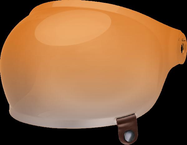 bell-bullitt-bubble-shield-spare-part-amber-gradient-brown-tab-front-left-BELL BULLITT FLAT SHIELDS VARIOUS COLOURS (WITH BLACK TAB) – Dark Silver Iridium