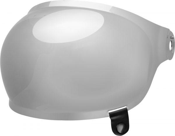 bell-bullitt-bubble-shield-spare-part-clear-black-tab-front-left-BELL BULLITT FLAT SHIELDS VARIOUS COLOURS (WITH BLACK TAB) – Dark Silver Iridium