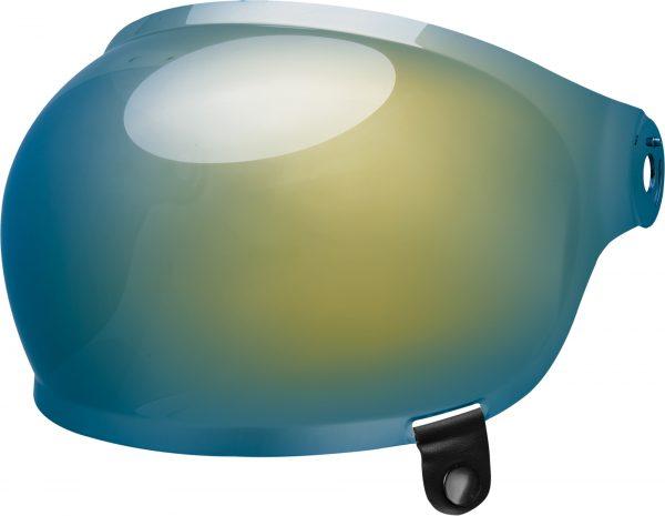 bell-bullitt-bubble-shield-spare-part-gold-iridium-black-tab-front-left-BELL BULLITT FLAT SHIELDS VARIOUS COLOURS (WITH BLACK TAB) – Dark Silver Iridium