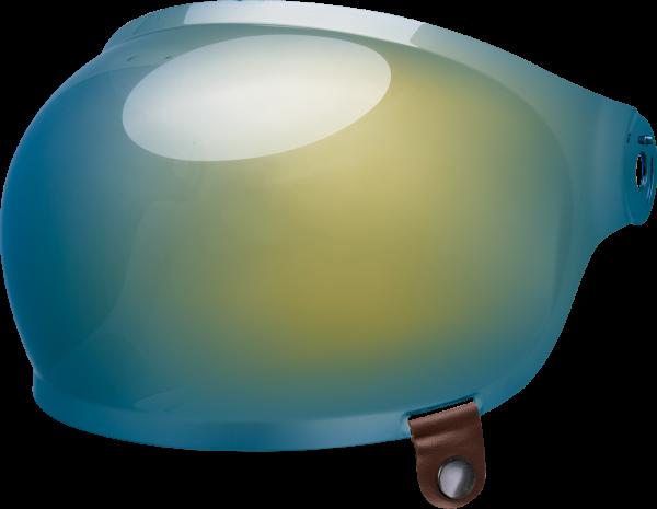 bell-bullitt-bubble-shield-spare-part-gold-iridium-brown-tab-front-left-BELL BULLITT FLAT SHIELDS VARIOUS COLOURS (WITH BLACK TAB) – Dark Silver Iridium