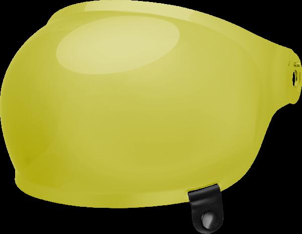 bell-bullitt-bubble-shield-spare-part-yellow-black-tab-front-left-BELL BULLITT FLAT SHIELDS VARIOUS COLOURS (WITH BLACK TAB) – Dark Silver Iridium