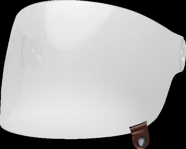 bell-bullitt-flat-shield-spare-part-clear-brown-tab-front-left-BELL BULLITT FLAT SHIELDS VARIOUS COLOURS (WITH BLACK TAB) – Dark Silver Iridium