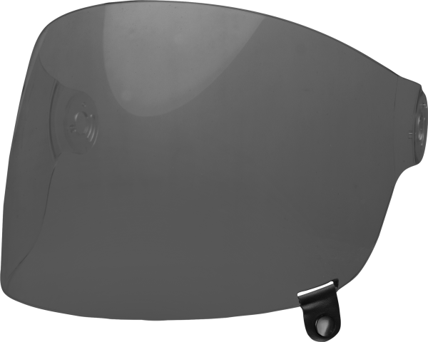 bell-bullitt-flat-shield-spare-part-dark-smoke-black-tab-front-left-BELL BULLITT FLAT SHIELDS VARIOUS COLOURS (WITH BLACK TAB) – Dark Silver Iridium