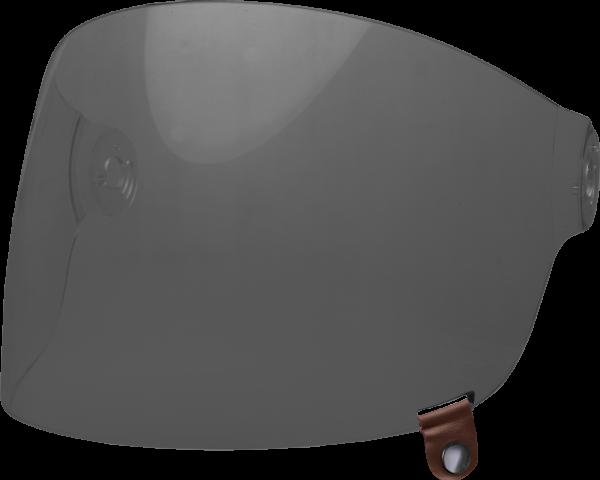 bell-bullitt-flat-shield-spare-part-dark-smoke-brown-tab-front-left-BELL BULLITT FLAT SHIELDS VARIOUS COLOURS (WITH BLACK TAB) – Dark Silver Iridium