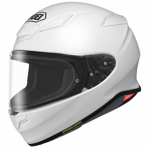 NXR2-White-SHOEI NXR2 PLAIN GLOSS WHITE